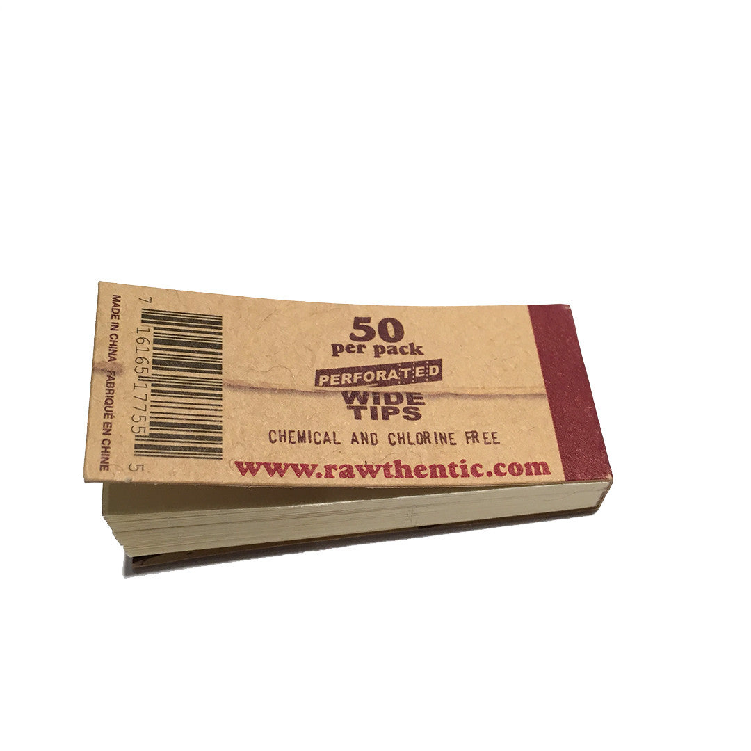 RAW Tips - Hemp & Cotton Wide Perforated Tips