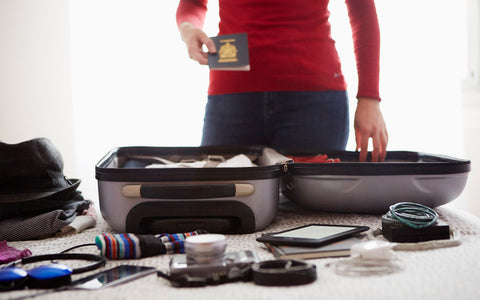 Packing personal identification items such as passport, drivers license