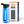 Prep-Right Survival Water Filter Bottle in Blue in front of Prep-Right Survival Water Filter Bottle Box - Open One Handed
