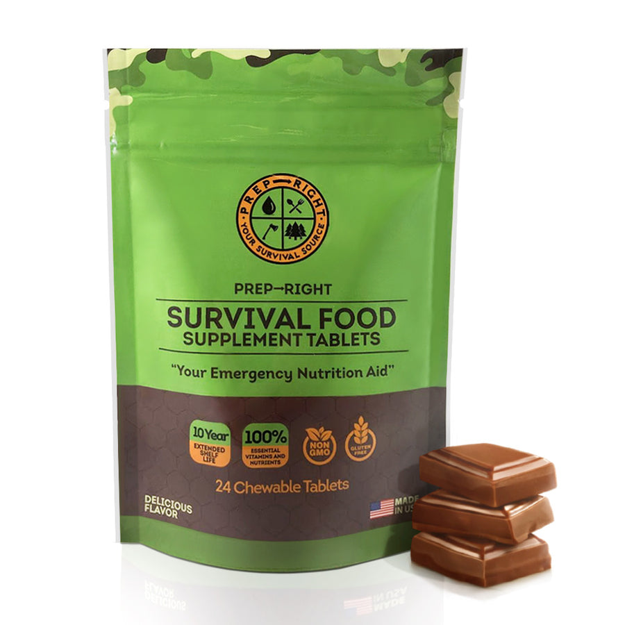 Prep-Right Survival Pack 24 Chewable Tablets - Chocolate