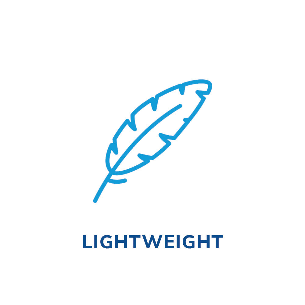 Lightweight feather icon