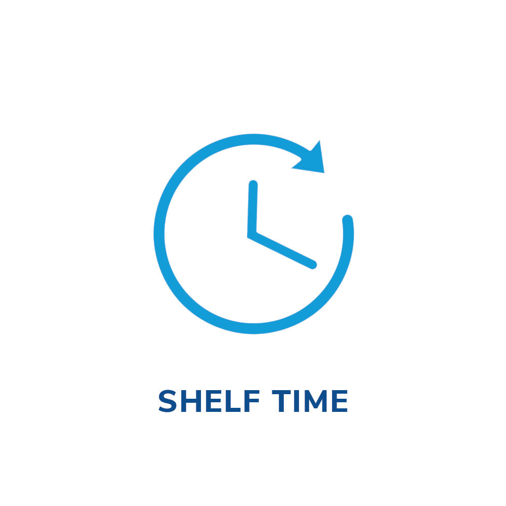 Clock shelf time icon