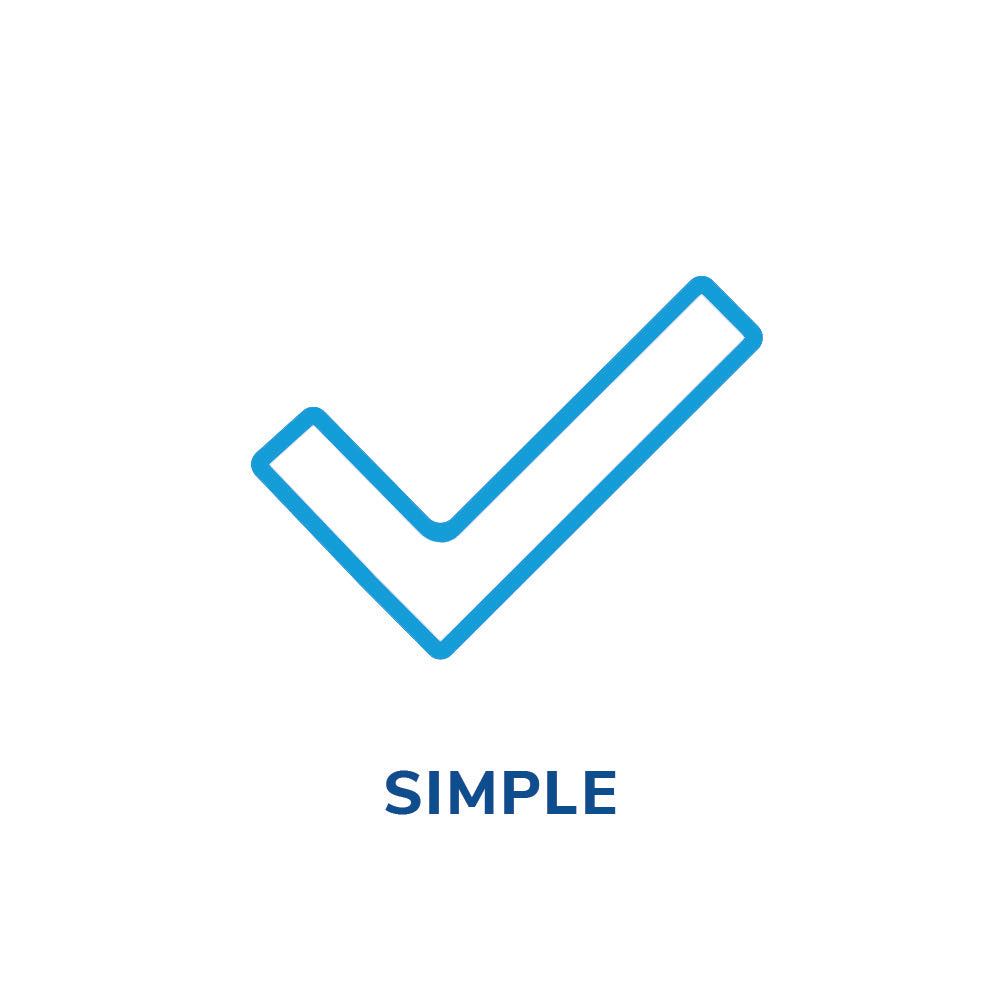 Simple check mark icon