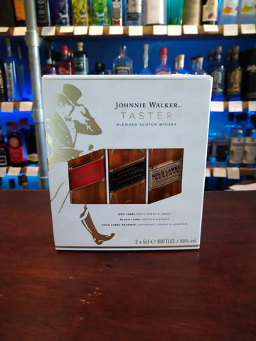 Johnnie Walker Taster Pack (Red/Black/Gold)