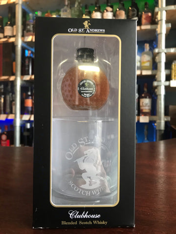 Old St Andrews Clubhouse Golf Ball Whisky 5cl And Glass Tumbler Set