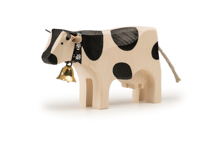 Swiss Cow with Bell in Black