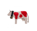 Swiss Cow with Bell in Red