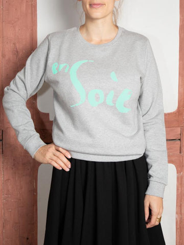 Sweatshirt Unisex Grey Mint