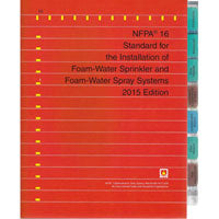 NFPA 16 Standard for the Installation of Foam-Water Sprinkler and Foam-Water Spray Systems
