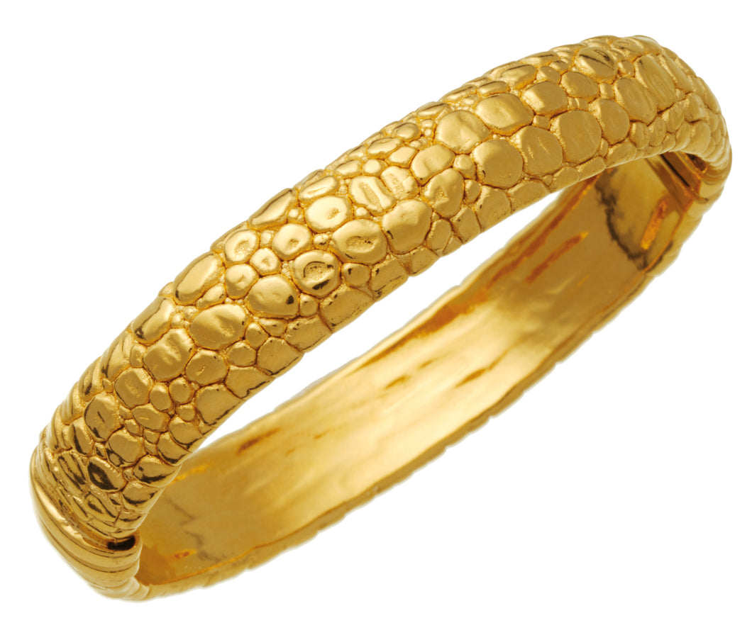 BANGLE MOON CROCODILE DORATO