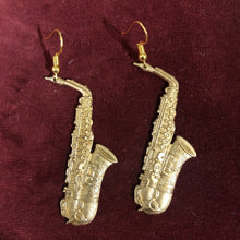 Load image into Gallery viewer, Brass Instrument Earrings