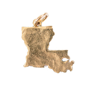 Gold Louisiana State Charm