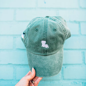 Louisiana Baseball Hat in Green