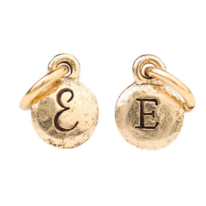 Tiny Gold Two Sided Monogram Charm