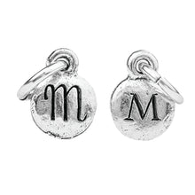 Load image into Gallery viewer, Tiny Silver Two Sided Monogram Charm