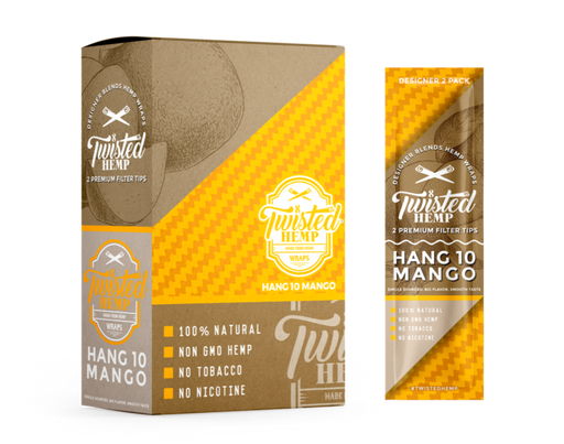Twisted Hemp Designer Blends Premium Hemp Wraps Hang 10 Mango