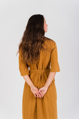 Porto Covo Dress Yellow Mustard