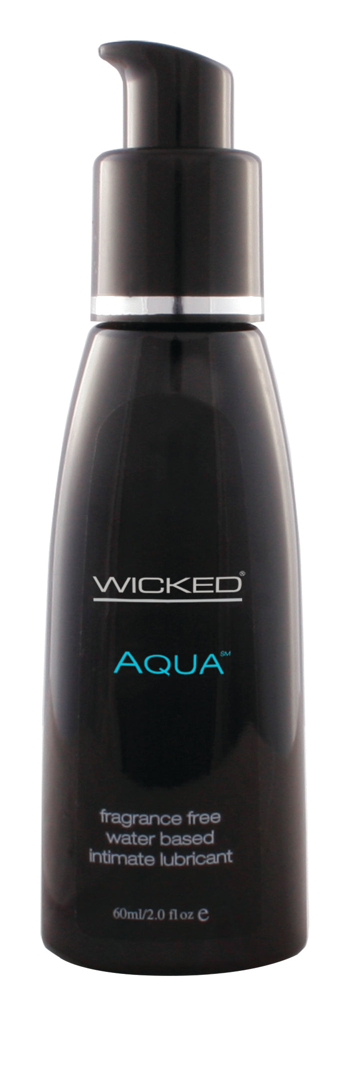 Wicked Aqua Water Based Fragrance-Free Lubricant 60ml Pump Bottle