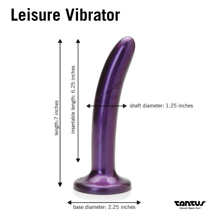 Tantus Leisure Dildo with Insertable Bullet Vibrator