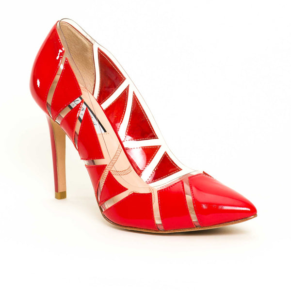 Campbell Red Leather - Lucy Choi London