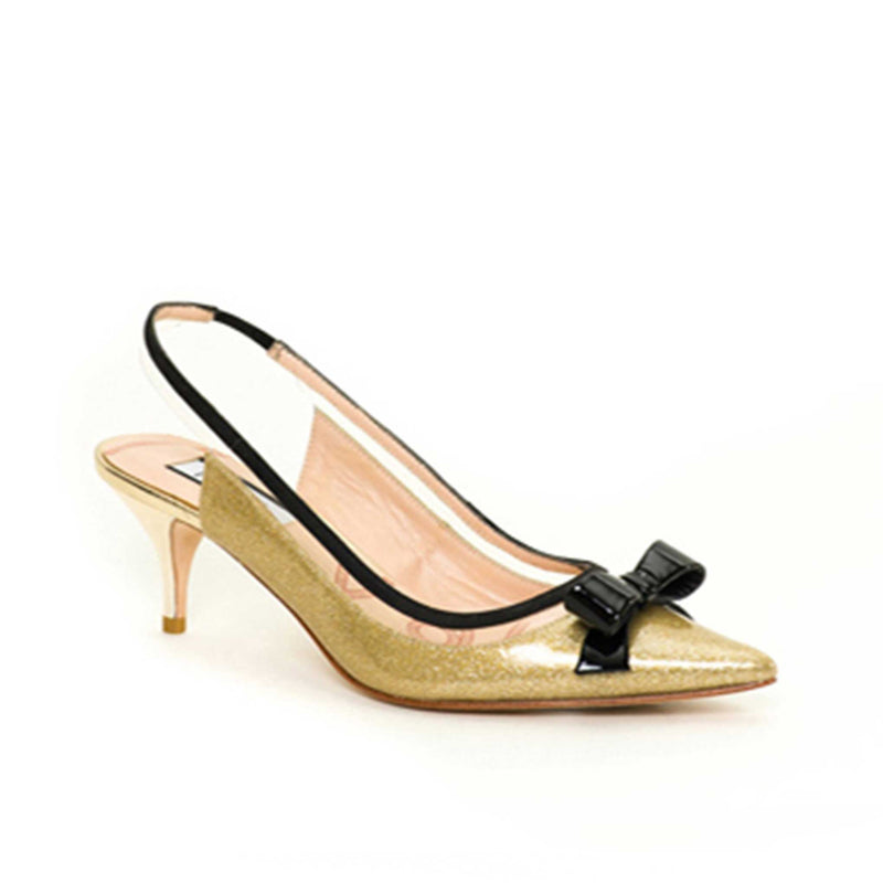 Clancy Gold Leather - Lucy Choi London