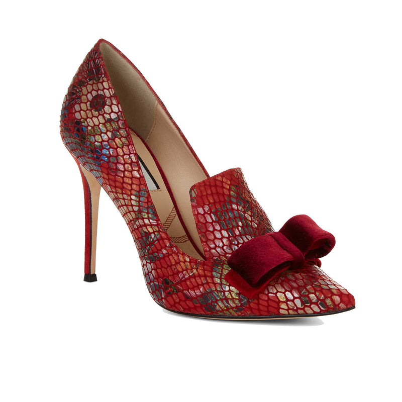 Corinthia Red Leather - Lucy Choi London