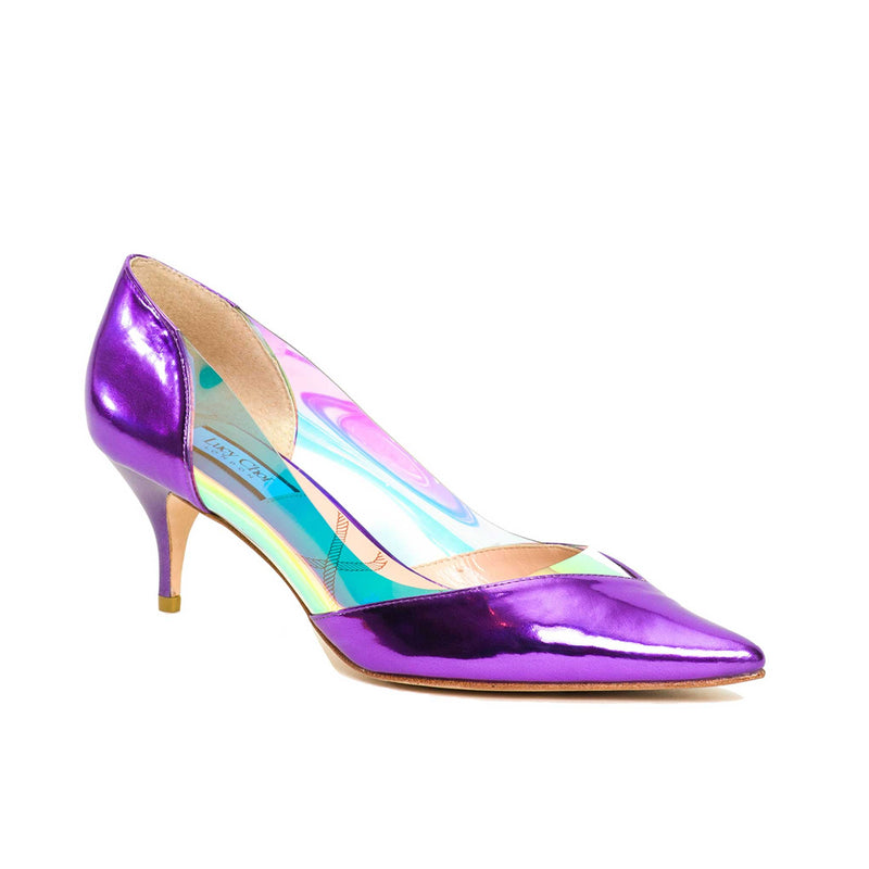 Deeley Purple Leather - Lucy Choi London
