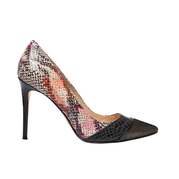 Flack Snake Print Leather - Lucy Choi London