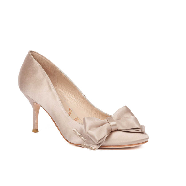 Highgate Beige Satin - Lucy Choi London