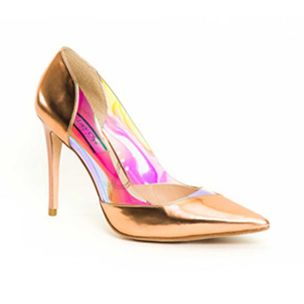 Kidd Rose Gold Leather - Lucy Choi London