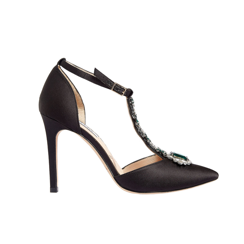 Regent Black Satin - Lucy Choi London