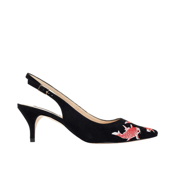 Rosehip Black Suede - Lucy Choi London
