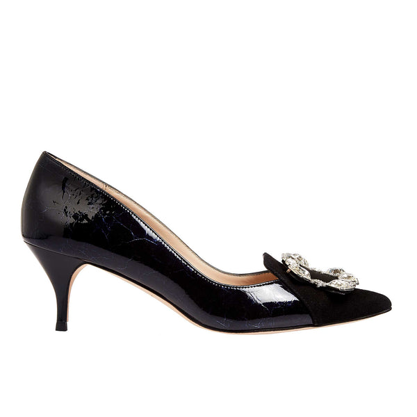 Royal Ascot Black Leather - Lucy Choi London