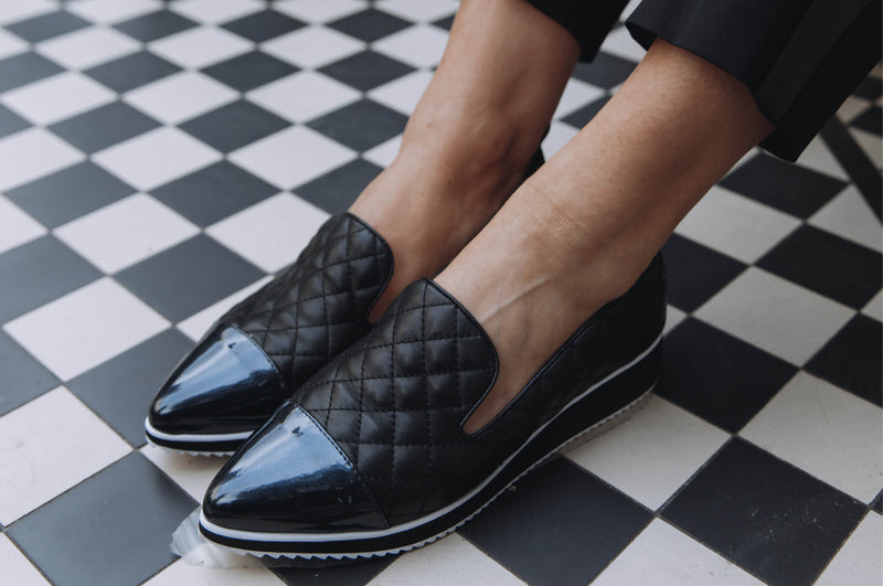Shoreditch Black Quilted - Lucy Choi London