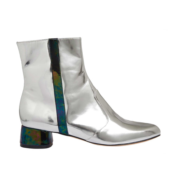 Soho Silver Leather - Lucy Choi London