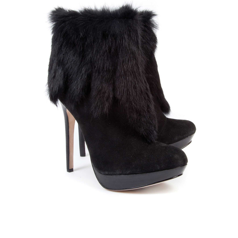 Valencia Black Suede - Lucy Choi London