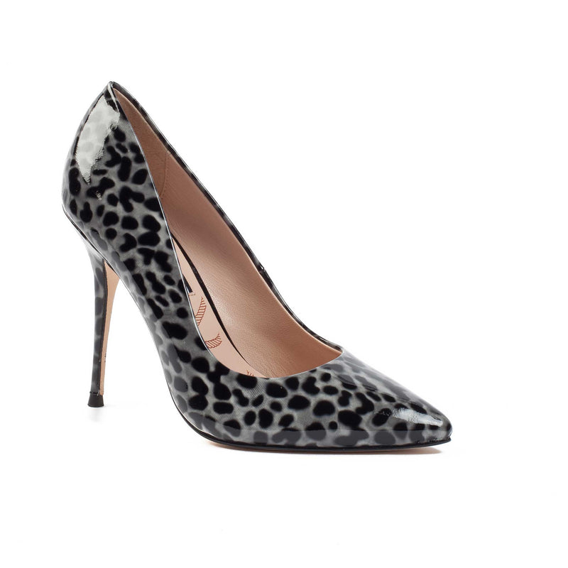 Aster Black Grey Leopard - Lucy Choi London