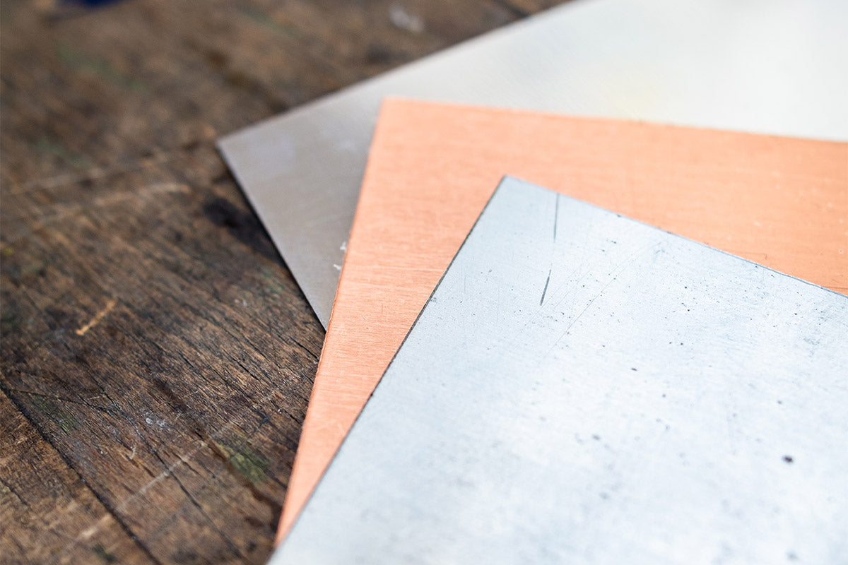 Zinc and Copper Plates Can be Used for Drypoints