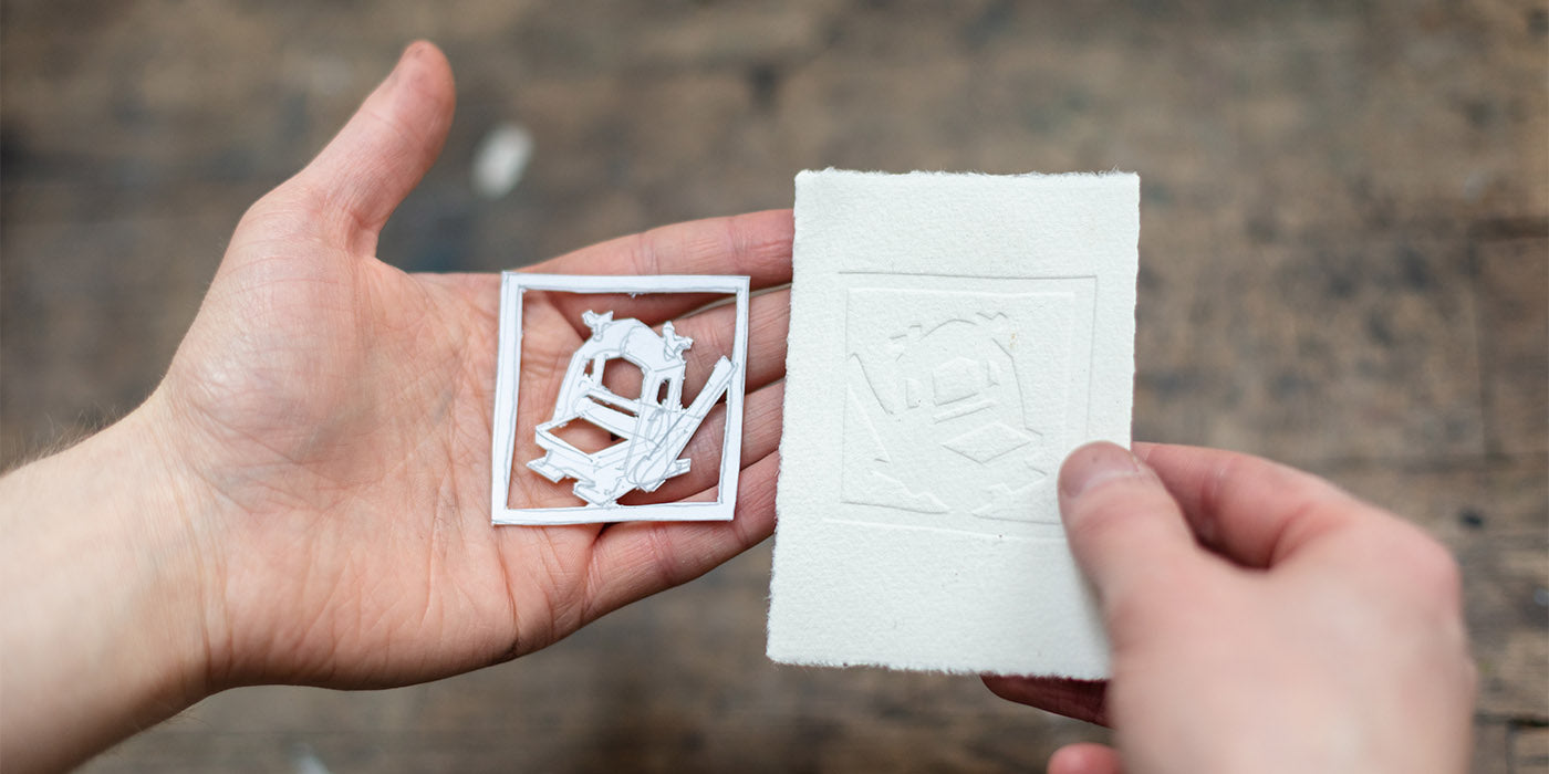 Blind Embossing With a 3D Printed Press