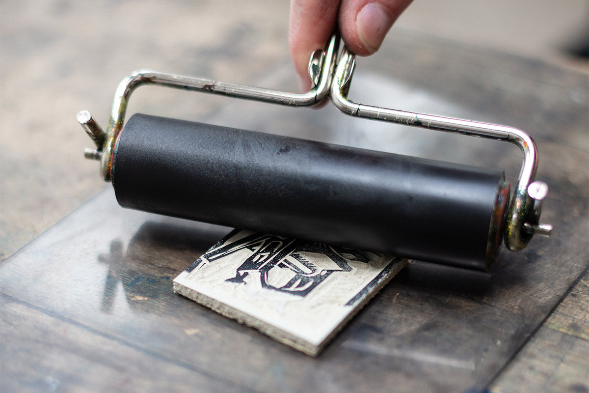 Use a Brayer to Ink Up Your Plate