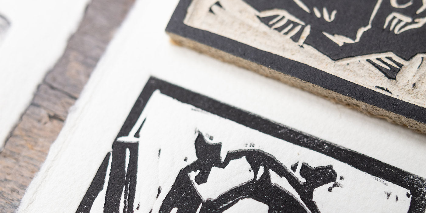 Printing a Linocut With a 3D Printed Printing Press