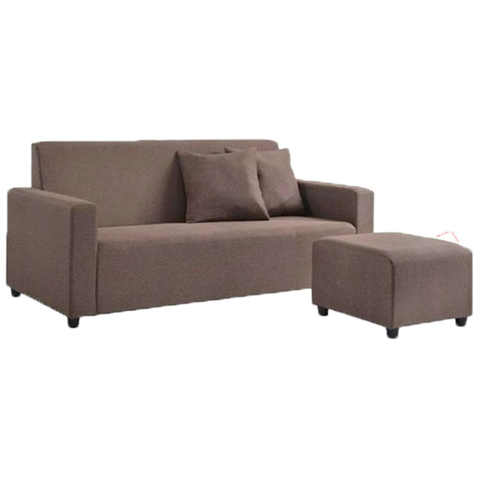 Fabric L Shape Sofa brown