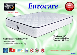 Sleepynight Eurocare Pocketed Spring Mattress