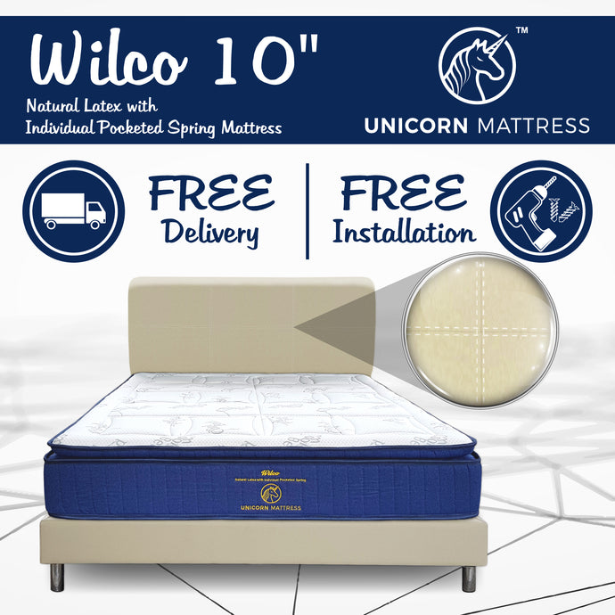 Wilco Natural Latex With Individual Pocketed Spring Mattress + Bedframe Bundle