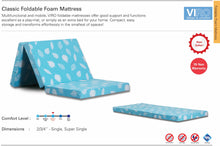 Load image into Gallery viewer, Viro Classic Foldable Foam Mattress