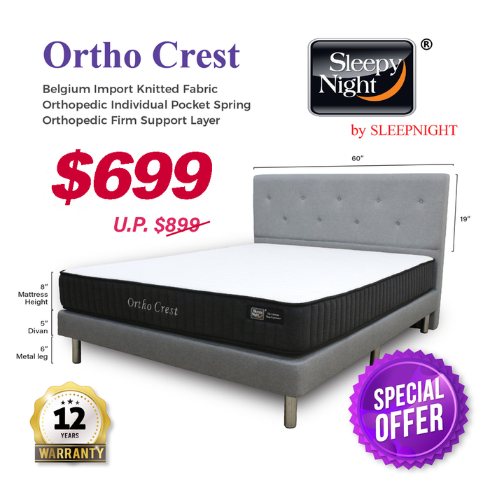 Sleepynight Ortho Crest Pocketed Spring Mattress Package