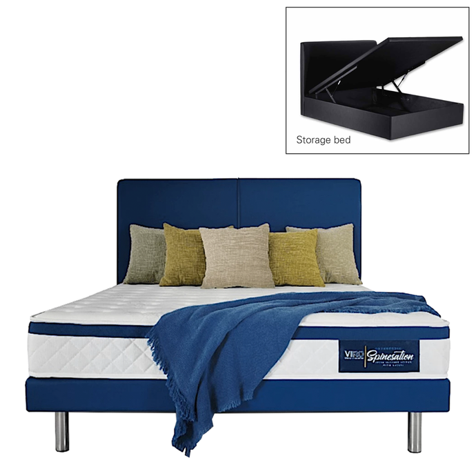 viro spinesation mattress storage bed set