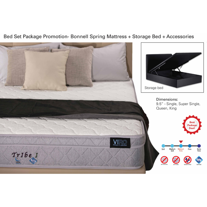 viro tribe 1 mattress storage bed set