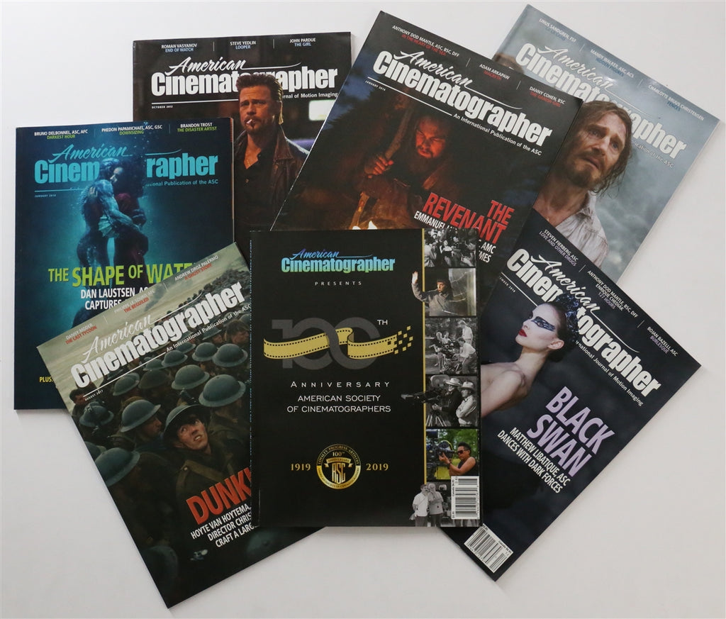 American Cinematographer Print Subscription 3 Year Plus 1 Year Free