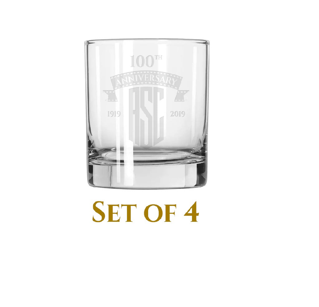ASC 100th Whiskey Glasses